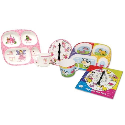 Daydream Toy Play With Your Food Princess/Animal Plate Sets