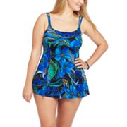 Croft and Barrow Floral Swimdress - Women's Plus