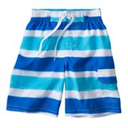 Jumping Beans Striped Cargo Swim Trunks - Boys 4-7x