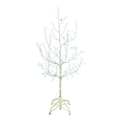 Kurt Adler 4-ft. White Twig Pre-Lit LED Christmas Tree
