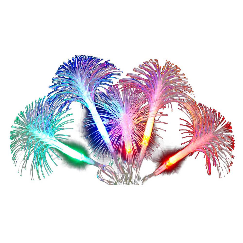 Kurt Adler Multi Color Fiber Optic LED White and Silver Angel Lighted Christmas Treetop