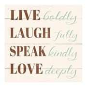 Live Laugh Speak Love Canvas Wall Art by Louise Carey