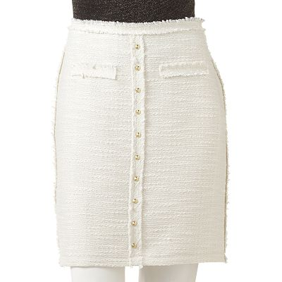 Jennifer Lopez Lurex Tweed Pencil Skirt