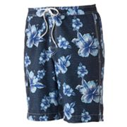 Chaps Hibiscus Swim Trunks
