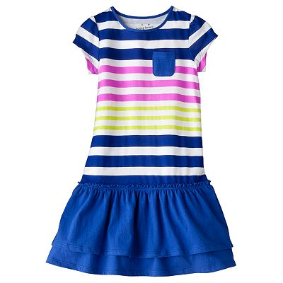 Jumping Beans Striped Drop-Waist Dress - Girls 4-7