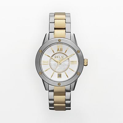 Relic Payton Stainless Steel Two Tone Watch - ZR11996 - Women