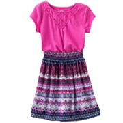 Mudd Printed Ruched Dress - Girls 4-6x