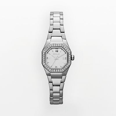 Relic Auburn Stainless Steel Crystal Watch - ZR34195 - Women