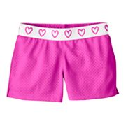 Jumping Beans Heart Mesh Shorts - Girls 4-7