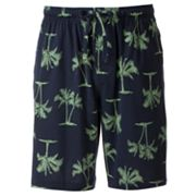 Croft and Barrow Palm Tree Lounge Shorts - Big and Tall