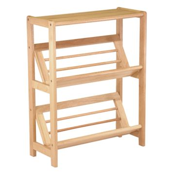 Winsome Tilted Shelf 2-Tier Bookshelf
