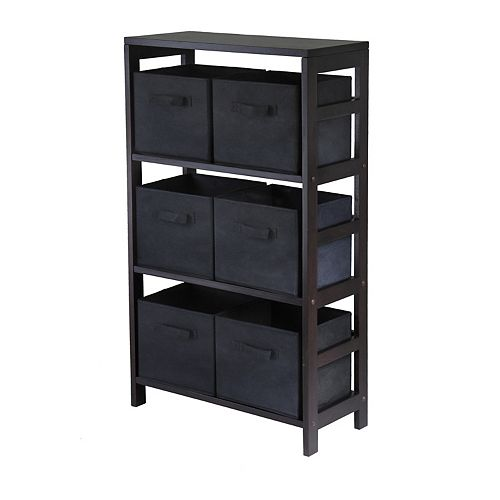 Winsome Capri 3-Section Storage Shelf