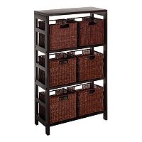 Winsome Leo 7 pc Shelf Set