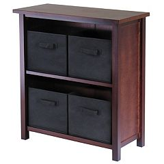 Winsome Verona 4-Bin Storage Shelf
