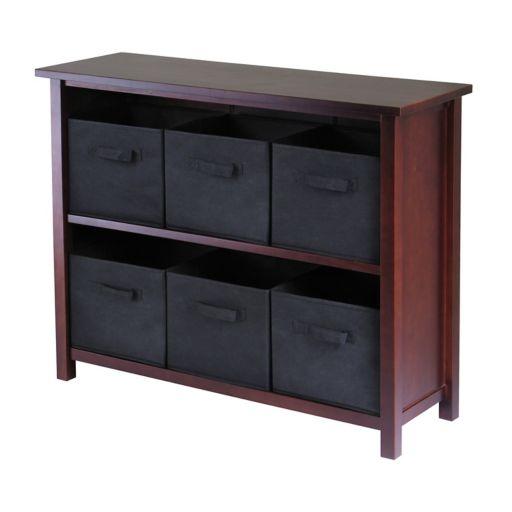 Winsome Verona 6-Bin Storage Shelf