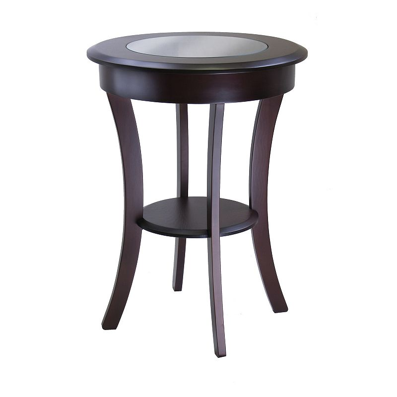 Winsome Cassie Round Accent Table, Brown, Furniture