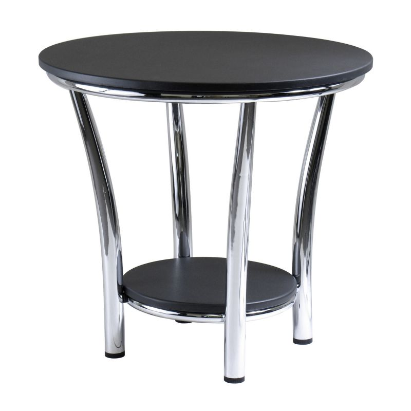 Winsome Maya Round End Table, Black