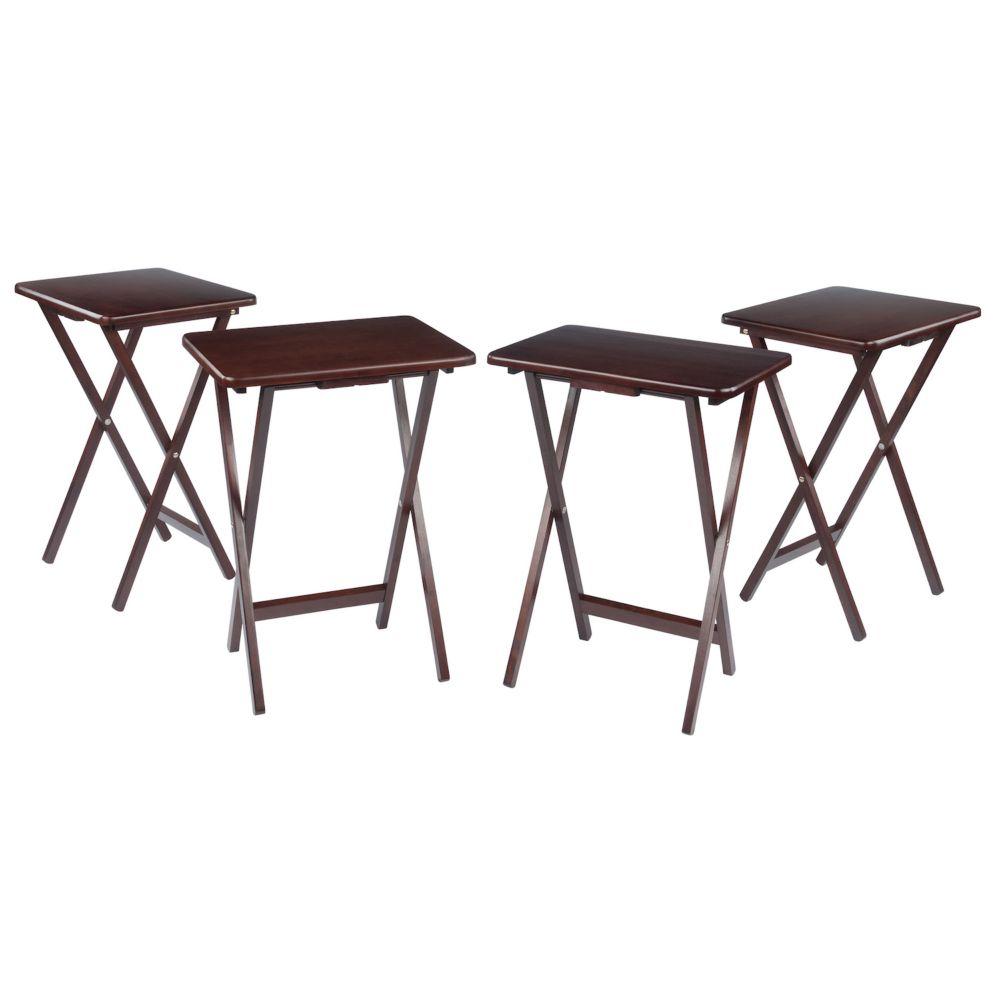 4 Pc TV Tray Table Set