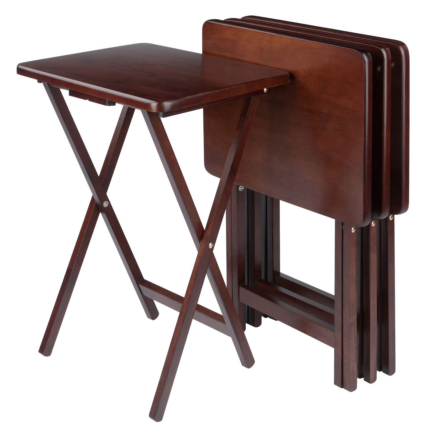 Winsome 4 Pc. TV Tray Table Set