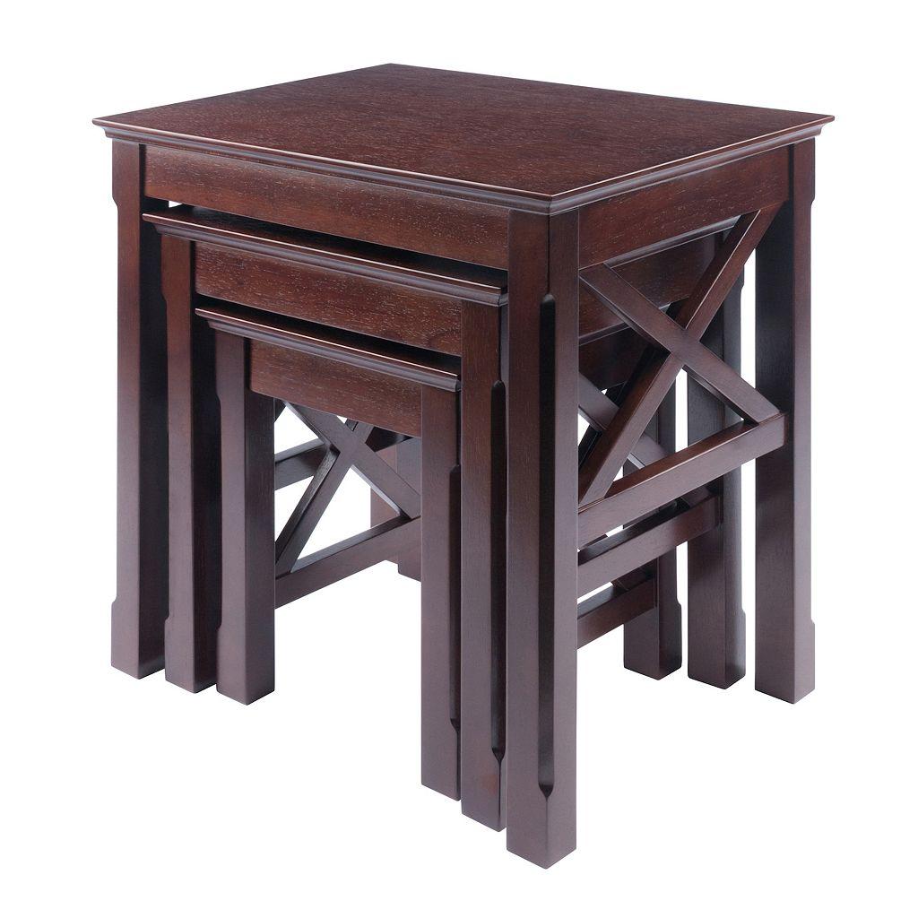 Winsome Xola 3-Piece Nesting Table Set