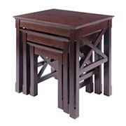 Winsome Xola 3 pc Nesting Table Set