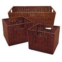 Winsome 3 pkLeo Basket Set