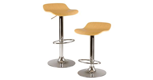 Winsome 2 Pc Kallie Swivel Bar Stool Set