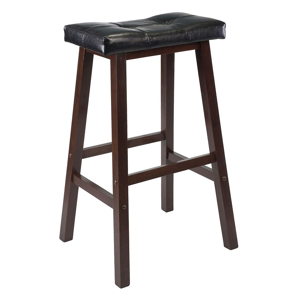 Winsome Mona 29-in. Cushion Saddle Stool