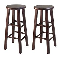 Winsome 2 pc Walnut Finish Bar Stool Set