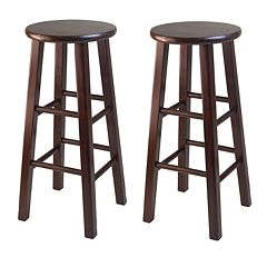 Winsome 2-pc. Walnut Finish Bar Stool Set
