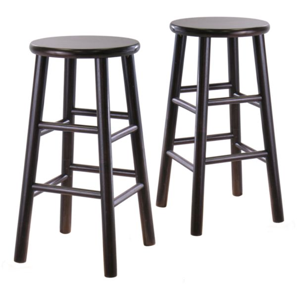 Winsome 24 Inch Bevel Seat Stool Set