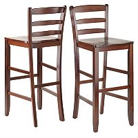 Winsome 2 pc Ladder Back Stool Set