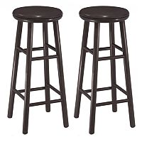 Winsome 2 pc Swivel Bar Stool Set