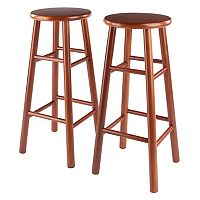 Winsome Cherry Finish 2 pc Stool Set