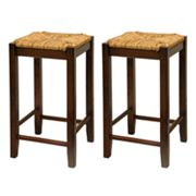 Winsome 2-pc. Rush Seat Stool Set