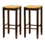 "Winsome 2-pc. 29"" Rush Seat Stool Set"