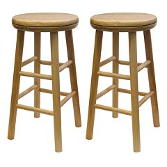 Winsome 2 pc Swivel Counter Stool Set
