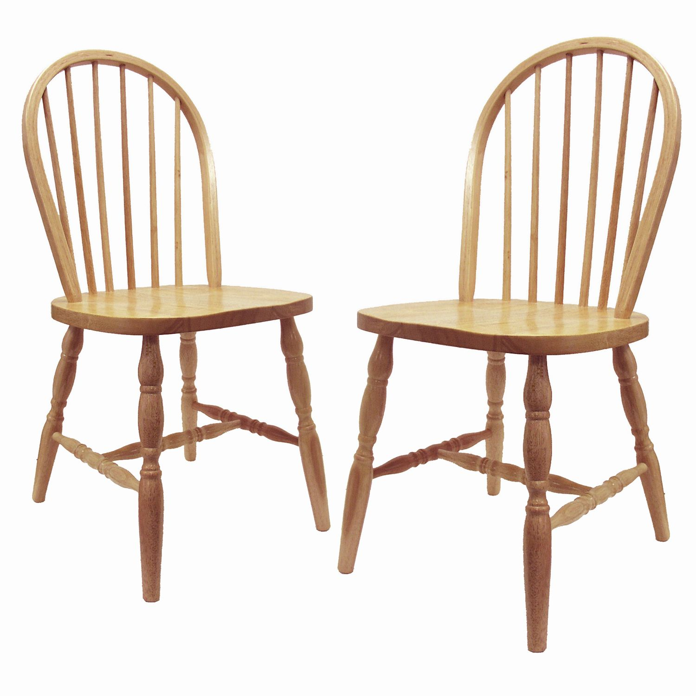 2pc Tan Windsor Chair Set