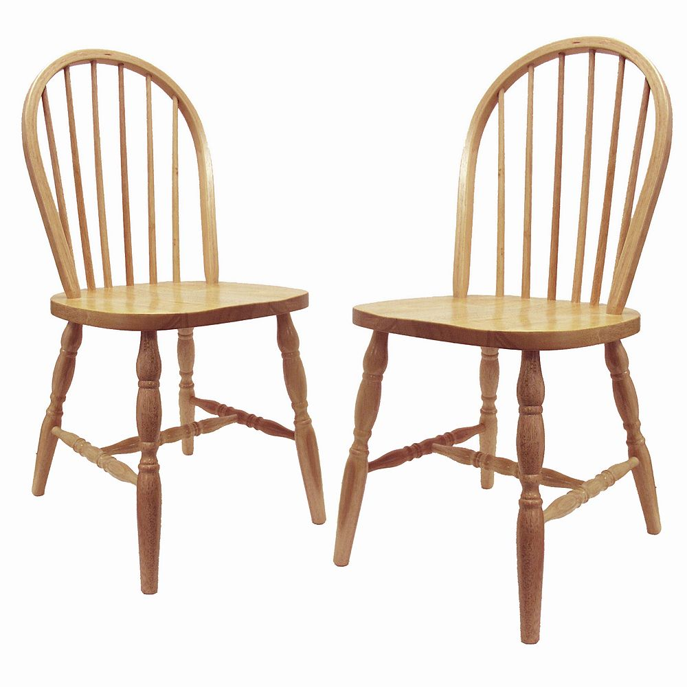 2-pc. Tan Windsor Chair Set