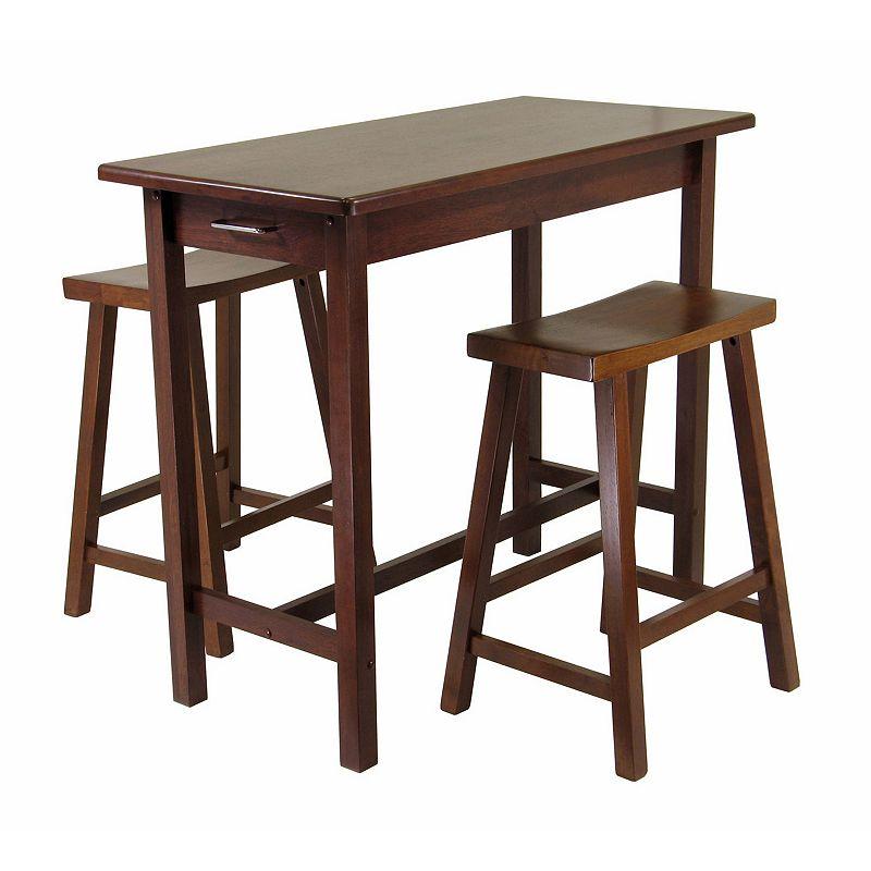Winsome Kitchen Island 3-piece Set, Brown, Furniture