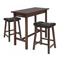 Winsome 3 pc Kitchen Island Set with Cushions