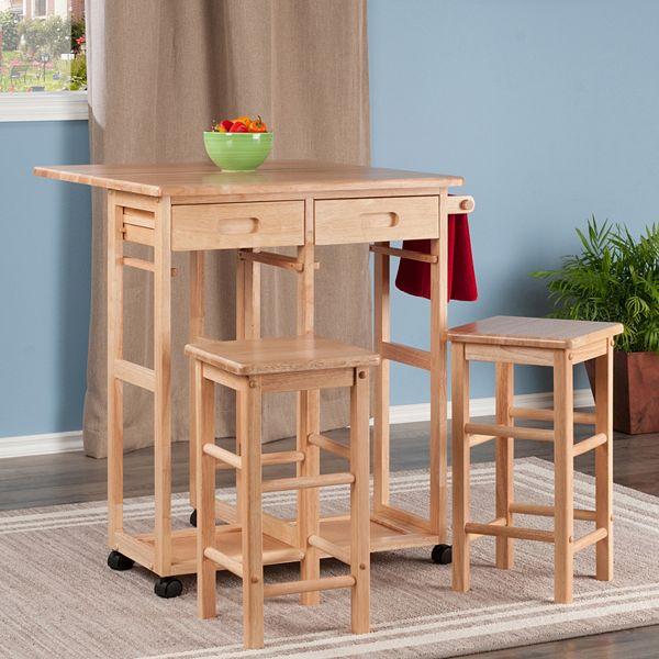 Winsome Space Saver Kitchen Cart 3 Piece Set
