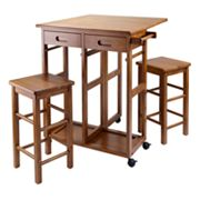 Winsome 3 pc Space Saver Kitchen Cart Set