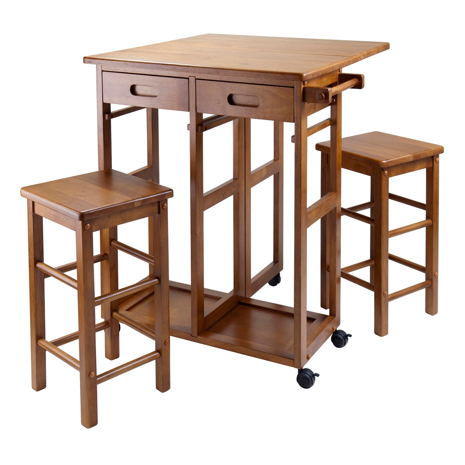 Winsome 3 Pc. Space Saver Kitchen Cart Set