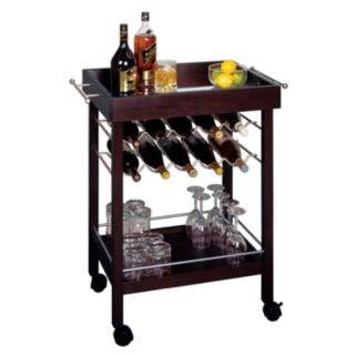 Winsome Bar Cart Wine Rack