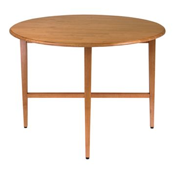 Winsome Hannah Round Drop-Leaf Table