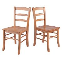 Winsome 2 pc Ladder Back Chair Set