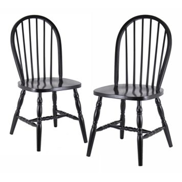 Winsome 2-pc. Black Windsor Chair Set