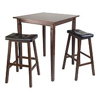 Winsome Kingsgate 3 pc Pub Dining Table & Stool Set