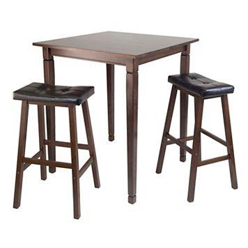 Winsome Kingsgate 3-pc. Pub Dining Table & Stool Set